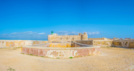 View of the castello maniace in Syracuse, Sicily, Italy