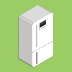 refrigerator icon isolated on white background
