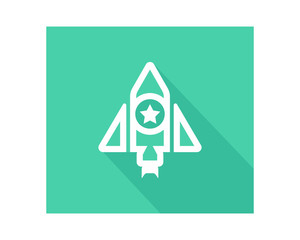 rocket star space business company office corporate image vector icon logo