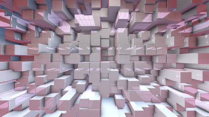 Modern virtual set 3d render motion background