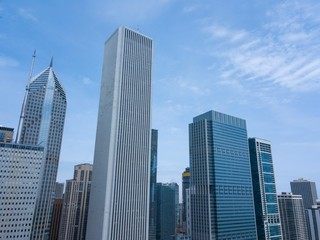 Beautiful view of the chicago Skyscrapers