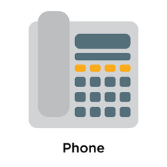 Phone icon isolated on white background
