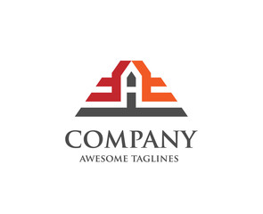 letter A construction logo, letter a Real estate logo concept illustration