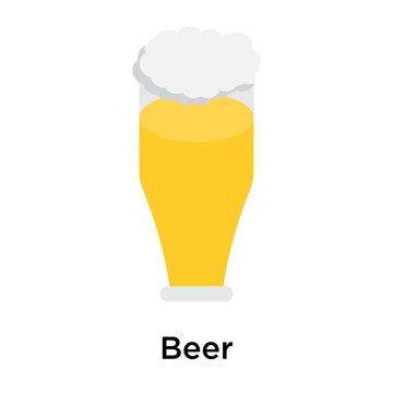 Beer icon isolated on white background