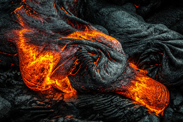 Hot lava on the Big Island of Hawaii