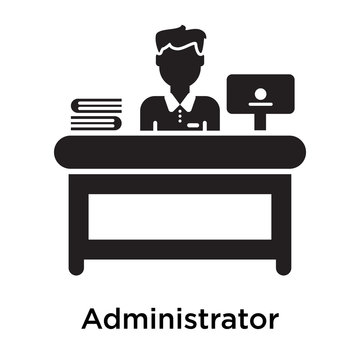 Administrator icon isolated on white background