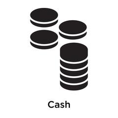 Cash icon isolated on white background