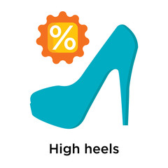 High heels icon isolated on white background