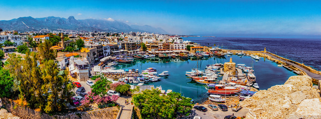 Canvas Prints Northern Europe Kyrenia marina in Cyprus