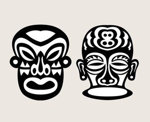 Black and White Mask, art vector design