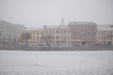 Embankment of the Fontanka River, St. Petersburg