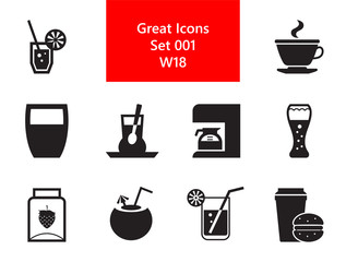 Drink Simple Icons Set