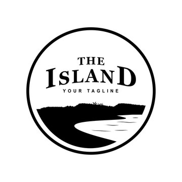 vintage logo of the island
