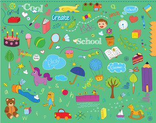 beautiful children school pattern for kinds