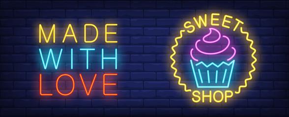 Sweet shop neon sign