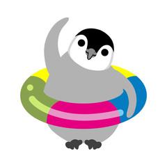 Exercising Baby Emperor Penguin