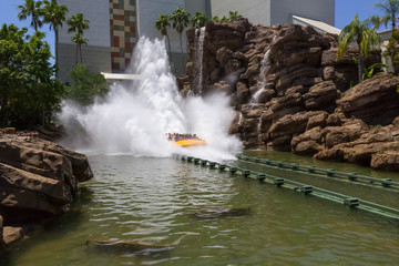 Jurassic Park water ride at Universal Studios Islands of Adventure theme park