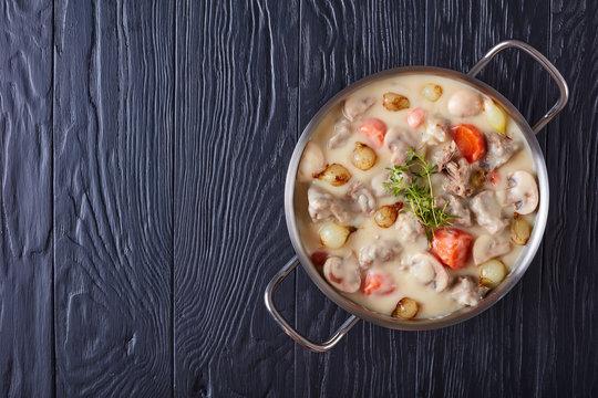creamy veal stew or blanquette de veau