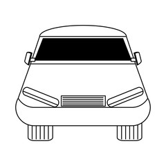 car icon over white background, vector illustration