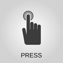 Press icon. Press symbol. Flat design. Stock - Vector illustration