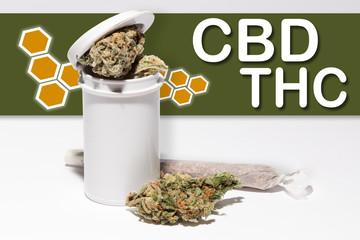 cbd, thc, medical marijuana mockup