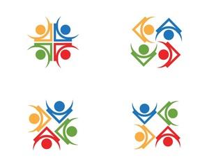 Community people care logo design template
