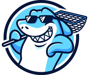 Cool Shark Mascot Design Vector