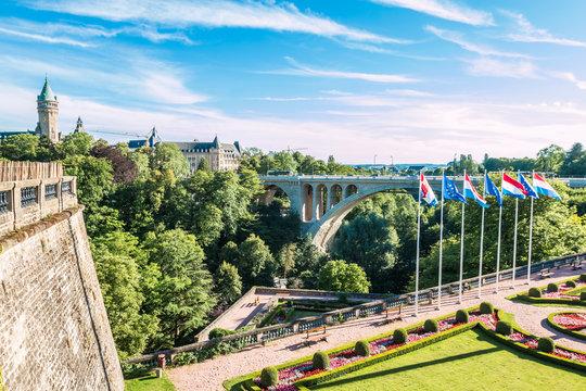 Adolf Bridge in Luxembourg