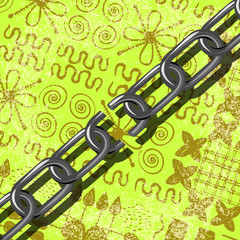 Juneteenth, Freedom Day. African-American Independence Day, June 19. Broken chain. Background - African ornaments. Brown and light green shades