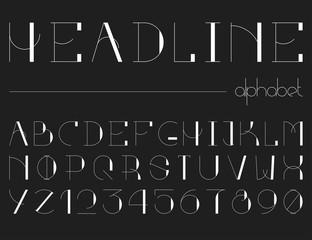Modern line alphabet.