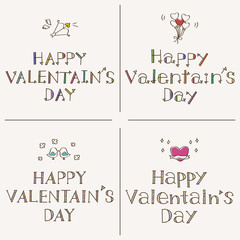 Happy Valentaine's Day 手書きフォント