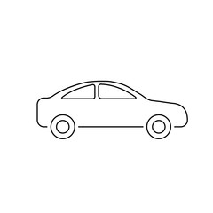 Car icon. Vector illustration isolated on white background