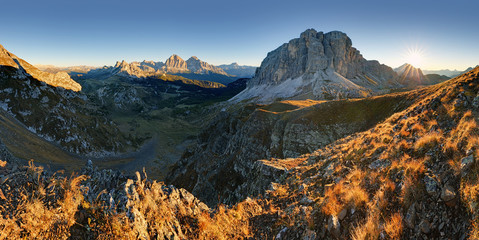 Autumn landscape in Dolomites Alps, Italy