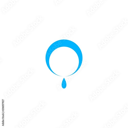 water drop template logo design concept stock image and royalty
