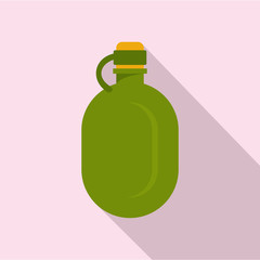 Metal water flask icon. Flat illustration of metal water flask vector icon for web design