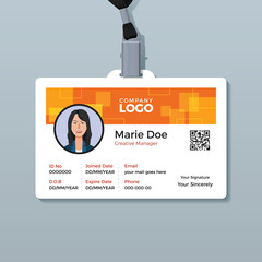Creative Orange ID Card Template