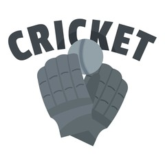 Cricket gloves logo. Flat illustration of cricket gloves vector logo for web design isolated on white background