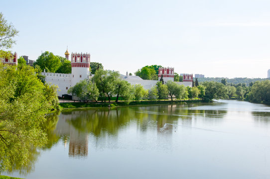 Novodevichy Convent, also Bogoroditse-Smolensky Monastery one of the beautiful sights in Moscow , Russia.