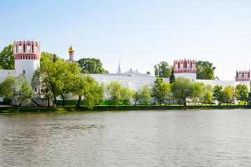 Novodevichy Convent, one of the UNESCO World Heritage Site, also Bogoroditse-Smolensky Monastery in Moscow , Russia.