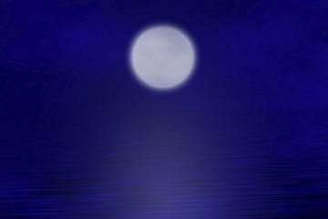 moonlight above the ocean on a quiet night