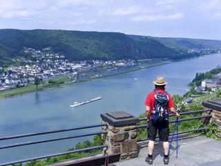 Wanderer Wanderung Rheinsteig Walking Nordicwalking
