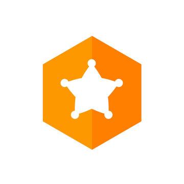 Sherrif Star Icon Design, Vector Illustration