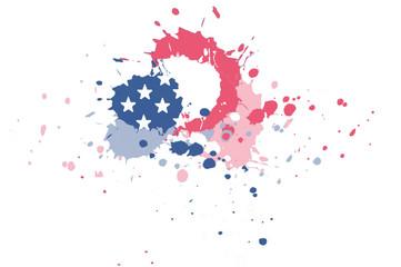 Ink splash USA flag