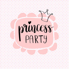 Princess Party Bridal shower card design.