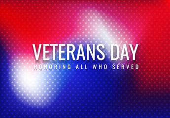 Veterans Day abstract background halftone gradient vector