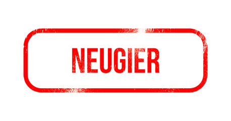 Neugier Red Grunge Rubber   Stamp