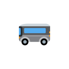 Bus, city transport, automobile, passenger car vector illustration flat icon symbol cartoon style emoji