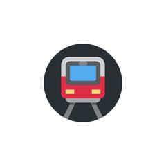 Metro passenger train, city transport, subway, underground vector illustration flat icon symbol cartoon style emoticon