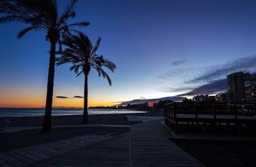 Beautiful coastline in evening