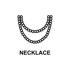 necklace icon. Element of women accessories with names icon for mobile concept and web apps. Thin line necklace icon can be used for web and mobile. Premium icon